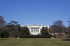 White House in Washington DC. Under clear blue sky Royalty Free Stock Image