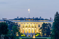 The White House in Washington DC. At dusk stock images