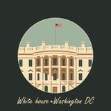 White house washington dc with flag Stock Photography