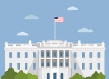 White house Washington DC. vector illustration