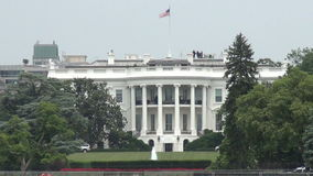 White House, Washington, DC. Zoom view of the the White House in Washington DC, USA stock video