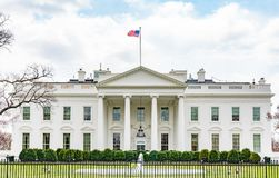 White House in Washinton, DC. From the north lawn Stock Photos
