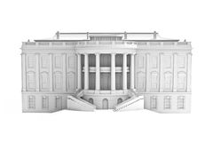 White house on a white background. Royalty Free Stock Image