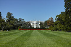 The White House. Wide angle view of the white house in Washington DC Royalty Free Stock Photo