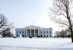 White House in Winter Royalty Free Stock Photos