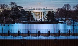 The White House in Winter Stock Photography