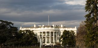 The White House, winter Royalty Free Stock Images