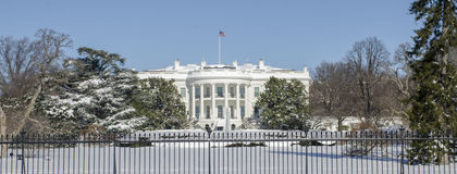 The White House in winter royalty free stock photography
