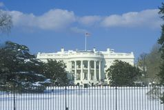 The White House in Winter, Washington, D.C. Stock Image