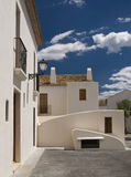 White Houses. Of a mediterranean town. Photo taken a sunny day with a beautiful blue sky Royalty Free Stock Photos