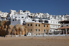 White houses in Albufeira, Portugal Stock Photos