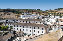 White houses in Antequera Stock Photo