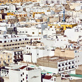 White houses in Arrecife, lanzarote Stock Photography