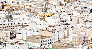 White houses in Arrecife, lanzarote Royalty Free Stock Photography