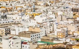 White houses in Arrecife, lanzarote Stock Photo