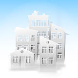 White houses as real estate symbols Stock Photography
