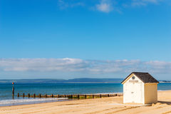 White houses on the beach, whitel door to summer cottages, seasi Stock Photography