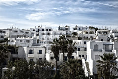 White houses in a blue sky in greece Stock Photo