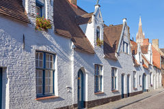 White houses in Bruges Stock Photography