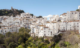 White houses in Casares Royalty Free Stock Images