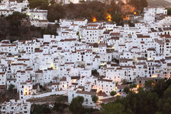 White houses of Casares, Spain Stock Images