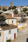 White houses and castle. Obidos. Portugal Royalty Free Stock Photo