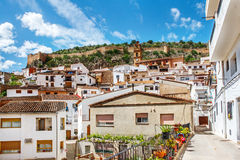 White houses in Chulilla village,Spain Stock Photography