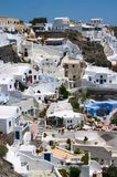 White houses on a cliff Royalty Free Stock Images