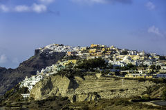 White houses on the cliff of Santorini Island Royalty Free Stock Images