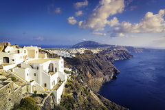 White houses on the cliff of Santorini Island Royalty Free Stock Photos