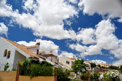 White houses and clouds Stock Photo
