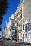 White houses on the Embankment in Nice. White houses style of the Belle Epoque on the Embankment in Nice Stock Image