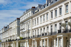 White houses facades in London, english architecture Stock Image