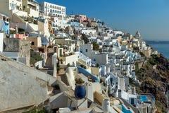White houses in Fira, Santorini island, Thira, Greece Stock Photography