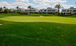 White houses in golf course Royalty Free Stock Photography