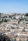 White houses in Granada Royalty Free Stock Photos