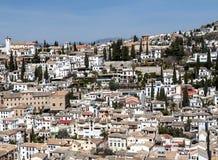 White houses in Granada Royalty Free Stock Photos