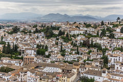 White houses of Granada Royalty Free Stock Image
