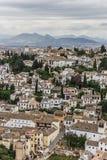 White houses of Granada Stock Photo