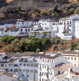 White houses on hillside Royalty Free Stock Images
