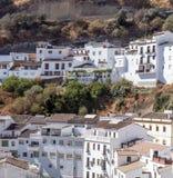 White houses on hillside Royalty Free Stock Images