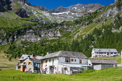 White houses in Italian Alps Stock Image