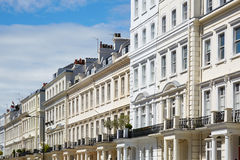 White houses in London, english architecture Stock Image