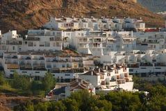 White houses in Malaga Royalty Free Stock Photo
