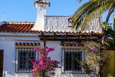 White houses in Maspalomas resort,Europ, Royalty Free Stock Images