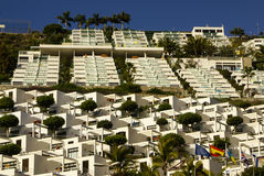 White houses in Maspalomas resort, Gran Canaria Stock Photo