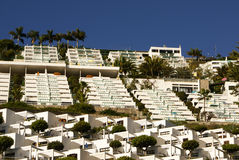 White houses in Maspalomas resort, Gran Canaria Royalty Free Stock Images