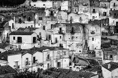 White houses in Monte Sant'Angelo - Gargano - Puglia Royalty Free Stock Images
