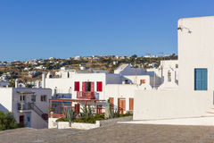 White houses in Mykonos Royalty Free Stock Images