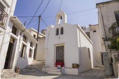 White houses on Naxos, Greece Royalty Free Stock Photography